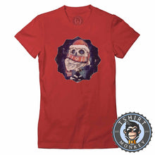 Load image into Gallery viewer, Owly Christmas Tshirt Lady Fit Ladies 2858
