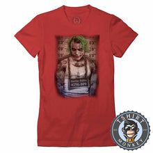 Load image into Gallery viewer, JOKER Prank Mugshot Tshirt Lady Fit Ladies 0009