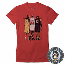 Load image into Gallery viewer, Bryant x Jordan x James Sports Illustration Graphic Tshirt Lady Fit Ladies 1351