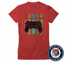 Load image into Gallery viewer, Retro Style Gamer Inspired Vintage Tshirt Lady Fit Ladies 1075