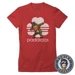 Paddidas Dabbing Leprechaun Irish Tshirt Lady Fit Ladies 0164