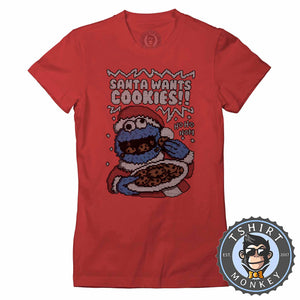 Santa Wants Cookies Ugly Sweater Christmas Tshirt Lady Fit Ladies 2999