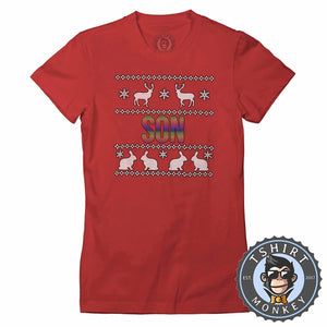 Son Rainbow Ugly Sweater Christmas Tshirt Lady Fit Ladies 1664