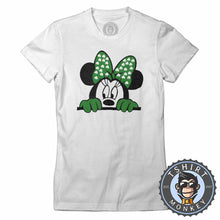 Load image into Gallery viewer, Peeking Minnie Tshirt Lady Fit Ladies 0264