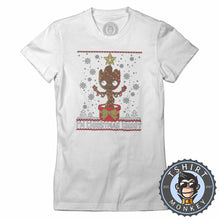 Load image into Gallery viewer, Groot Inspired Ugly Sweater Christmas Tshirt Lady Fit Ladies 2857