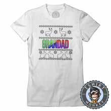 Load image into Gallery viewer, Grandad Rainbow Ugly Sweater Chistmas Tshirt Lady Fit Ladies 1632
