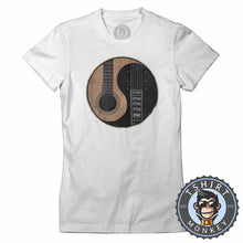 Load image into Gallery viewer, Acoustic X Electric Ying Yang Inspired Guitar Tshirt Lady Fit Ladies 0076