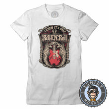 Load image into Gallery viewer, It's Only Rock N Roll But I Like It Music Inspired Guitar Vintage Tshirt Lady Fit Ladies 1234