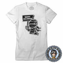 Load image into Gallery viewer, Happy Halloween V2 Mummy Inspired Cartoon Tshirt Lady Fit Ladies 1159