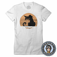 Load image into Gallery viewer, What - Grumpy Cat Funny Vintage Tshirt Lady Fit Ladies 1218