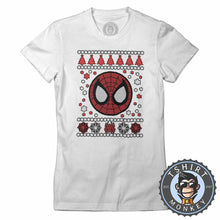 Load image into Gallery viewer, Spidey Badge Ugly Sweater Christmas Tshirt Lady Fit Ladies 1665