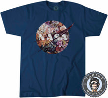 Load image into Gallery viewer, Vintage NASA Inspired Floral Graphic Tshirt Shirt Mens Unisex 2146