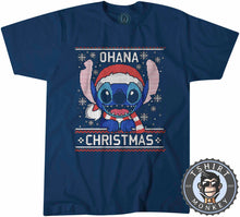 Load image into Gallery viewer, Ohana Ugly Sweater Christmas Tshirt Mens Unisex 2859