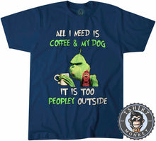 Load image into Gallery viewer, All I Need Is My Dog And My Coffee Tshirt Mens Unisex 2970