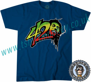 Bob Marley 420 Reggae T Shirt T-Shirt Unisex Mens Kids Ladies - TeeTiger