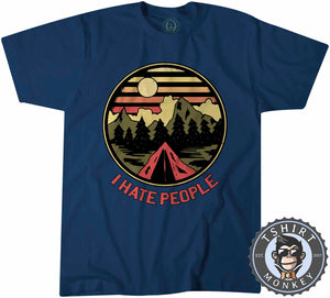 I Hate People Funny Camping Vintage Summer Tshirt Kids Youth Children 1183