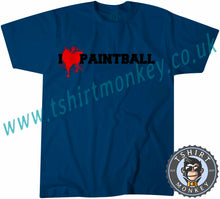 Load image into Gallery viewer, I Love Paintball T-Shirt Unisex Mens Kids Ladies - TeeTiger