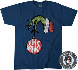 The Grinch Inspired Grunge Christmas Tshirt Kids Youth Children 1670