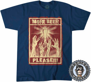 More Beer Please Funny Halftone Poster Drinking Statement Tshirt Kids Youth Children 1186