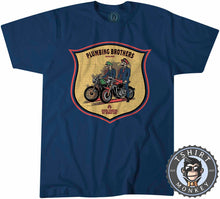 Load image into Gallery viewer, Plumbing Brothers Vintage Super Mario Bros Inspired Biker Tshirt Mens Unisex 1249