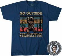 Load image into Gallery viewer, Worst Case Scenario - Bear Beer Vintage Funny Statement Tshirt Kids Youth Children 1079