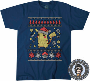 Pik-A-Chu  Inspired Ugly Sweater Christmas Tshirt Mens Unisex 1659