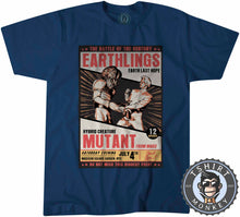 Load image into Gallery viewer, Earthlings Last Hope Alien Mutant Funny Halftone Poster Tshirt Mens Unisex 1103