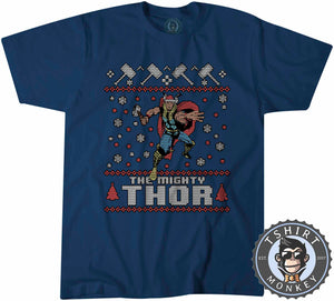 The Mighty Thor Ugly Sweater Christmas Tshirt Kids Youth Children 1672