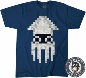 Blooper Pixel Classic Game Inspired 8-Bit Vintage Gamer Tshirt Shirt Mens Unisex 2189