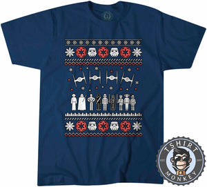 Jedi Force Ugly Sweater Christmas Tshirt Kids Youth Children 1669
