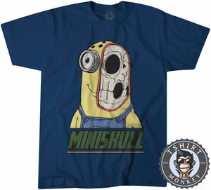 Miniskull - Minions Movie Inspired Skull Funny Cartoon Tshirt Kids Youth Children 1145