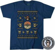 Load image into Gallery viewer, Pikachu Inspired Ugly Sweater Tshirt Kids Youth Children 2900