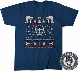 Darthtmas Ugly Sweater Christmas Tshirt Mens Unisex 1667