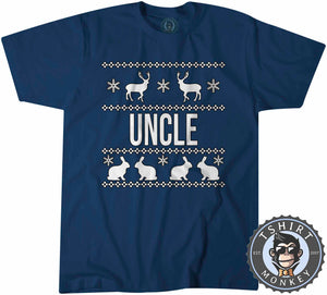 Uncle Ugly Sweater Christmas Tshirt Kids Youth Children 1674