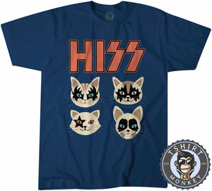 Hiss - Kiss Inspired Meme Funny Cat Tshirt Kids Youth Children 1089