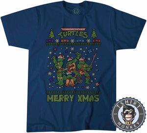 Cowabunga Ugly Sweater Christmas Tshirt Kids Youth Children 1673