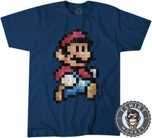 Load image into Gallery viewer, Super Mario Bros Inspired Vintage Pixel Tshirt Mens Unisex 2027