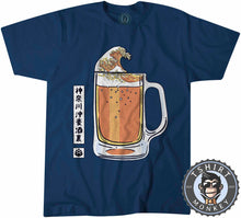 Load image into Gallery viewer, The Great Beer Wave Unique Graphic Illustration Drinking Tshirt Mens Unisex 1437