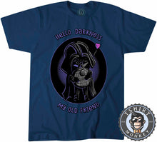 Load image into Gallery viewer, Hello Darkness My Old Friend Cute Darth Vader Cartoon Tshirt Kids Youth Children 1269