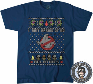 I Aint Afraid Ghost Buster Ugly Sweater Chistmas Tshirt Mens Unisex 1629