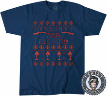 Load image into Gallery viewer, You'll Shoot Your Eye Out Ugly Sweater Christmas Tshirt Kids Youth Children 2882
