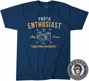 Stay Focus - Photo Enthusiast - Funny Photography Vintage Statement Tshirt Mens Unisex 1248