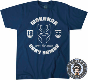 Wakanda Body Armor Movie Inspired Vintage Tshirt Kids Youth Children 1314