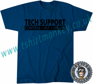 Tech Support Control Alt Delete T-Shirt Unisex Mens Kids Ladies