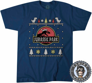 Jurassic Park Inspired Ugly Sweater Christmas Tshirt Kids Youth Children 1643