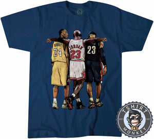 Bryant x Jordan x James Sports Illustration Graphic Tshirt Mens Unisex 1351
