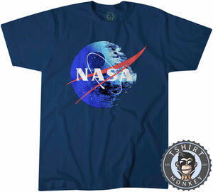 NASA Death Star Space Station Movie Inspired Meme Mashup Tshirt Mens Unisex 1245