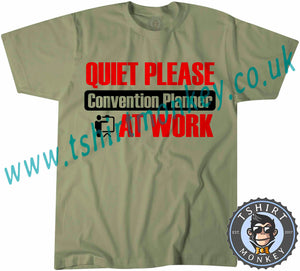 Quiet Please Convection Planner At Work T-Shirt Unisex Mens Kids Ladies