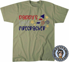 Load image into Gallery viewer, Daddy's Little Firecracker T-Shirt Unisex Mens Kids Ladies