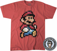 Load image into Gallery viewer, Super Mario Bros Inspired Vintage Pixel Tshirt Kids Youth Children 2027 - TeeTiger